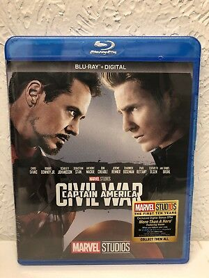 Captain America Civil War Blu Ray + Digital HD Brand New Sealed, Ships Fast!!
