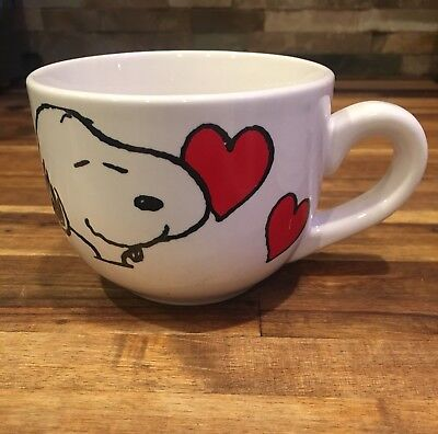 Peanuts  Snoopy Coffee Cup Soup Mug Happy Valentine's Day!