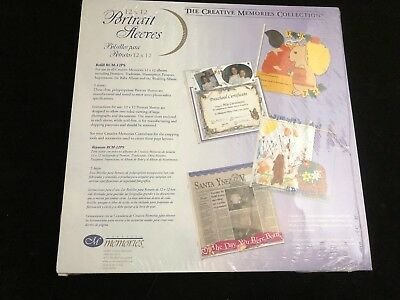 Creative Memories Collection Portrait Sleeves 12 x 12 refill RCM-12PS, 5 Sheets