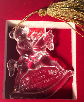 Waterford 2014 Marquis Baby's First Christmas Lead Crystal Ornament NIB