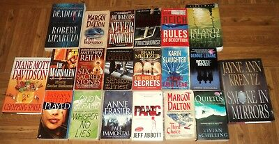 """THRILLER / SUSPENSE """"BOOK"""" COLLECTION - Lot of 20 - Great Thriller Reading!!"""