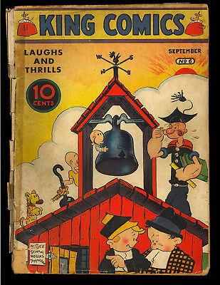 King Comics #6 Platinum Age Unrestored Early Golden Age Popeye 1936 FR-GD