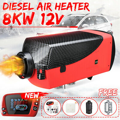 8KW 12V Diesel Air Heater Limited Edition LCD Thermostat 8000W F/ Truck Boat