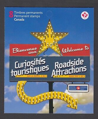 CANADA BOOKLET BK432 8 x 90c ROADSIDE ATTRACTIONS - 2