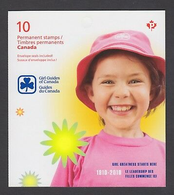CANADA BOOKLET BK433 10 x 90c GIRL GUIDES OF CANADA