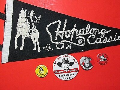 Hopalong Cassidy Pennant Pin Lot Group Advertising Western Cowboy Vintage Tv Old