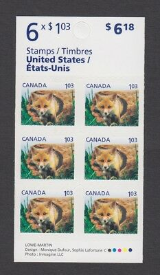 CANADA BOOKLET BK441 6 x $1.03 BABY WILDLIFE DEFINITIVES - RED FOX