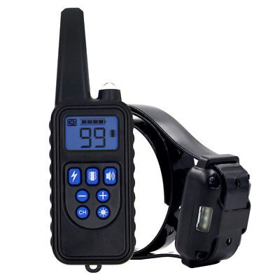800m Remote Control Waterproof Dog Training Electric Shock Collar Rechargeable