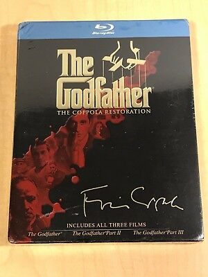 The Godfather Trilogy Collection Blu-ray The Coppola Restoration Brand New #tms