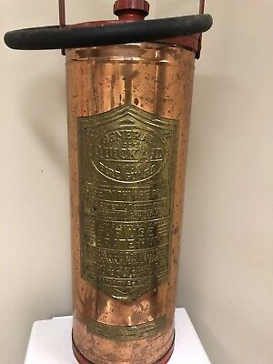 GENERAL QUICK AID COPPER FIRE EXTINGUISHER A-704 BRASS 2 1/2 Gallon