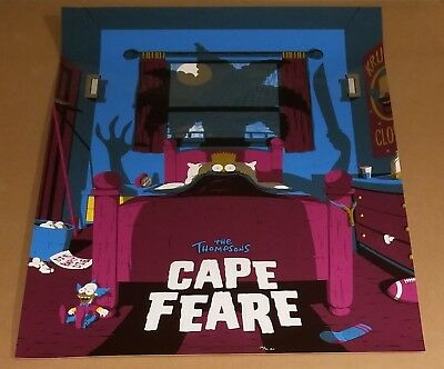 The Simpsons Thompsons Cape Feare Poster by Artist Florey Numbered #/40 AP