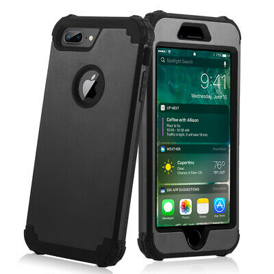 Heavy Duty Rugged Shockproof Armor Case Cover with Kickstand for iPhone 7 8 Plus