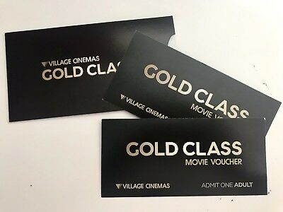 Village and Event Cinemas Gold Class Movie Vouchers x 2 (Valid to 31 July 2019)