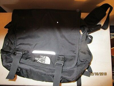 The North Face Black Nylon Laptop Carry On Messenger Bag