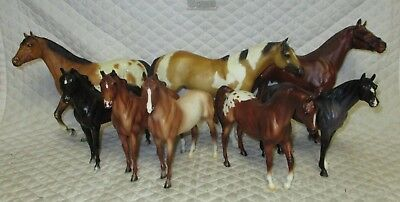BREYER HORSE LOT of EIGHT- Traditional & Classic Body LOT -Customize -NO RESERVE