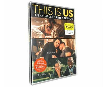 This Is Us: The Complete First Season TV Show (DVD, 2017, 5-Disc Set) New Sealed