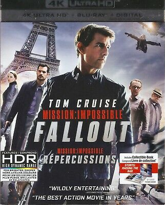 MISSION: IMPOSSIBLE 6 FALLOUT 4K ULTRA HD & BLURAY & DIGITAL SET with Tom Cruise
