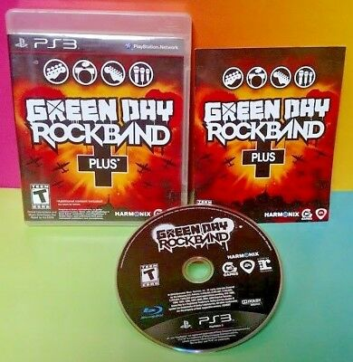 Green Day Rock Band PLUS !  PS3 Sony Playstation 3 GAME Rare Complete