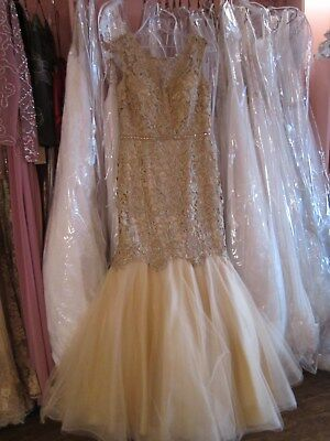 Marsoni Gold Mermaid Mother of the Bride / Groom Size 12 NWT