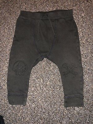 Zara Boys Skull And Crossbones Leggings Trousers Size 12-18 Months