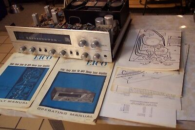 Eico 3566 Amplifier for Parts or Repair Paperwork Included Vintage