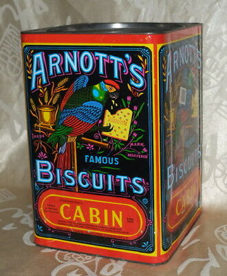 Large Arnott's Cabin Biscuits Tin - Rare Collectable