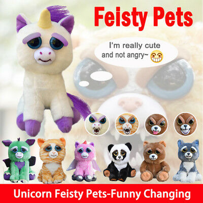 Feisty Pets - Soft Plush Stuffed Scary Face Toy Animal With Attitude 10 Styles