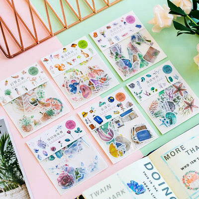 40pcs Washi Paper Sticker Decors DIY Calendar Scrapbooking Stationery Stickers