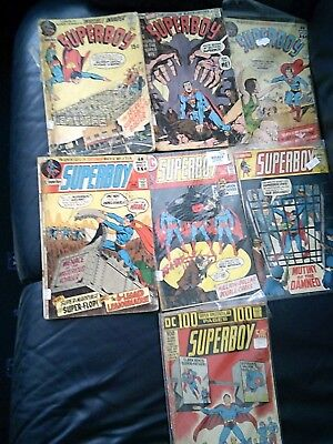 Superboy Low Grade Seven Comic Lot 1971-73 Bronze Age