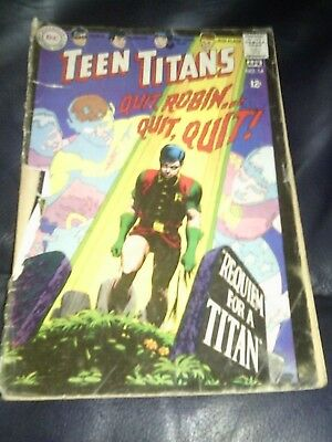 Teen Titans #14 1968 Missing Rear Cover Silver Age