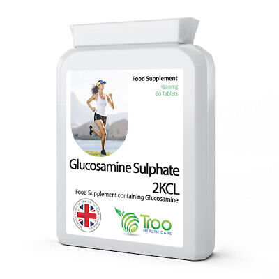 Glucosamine Sulphate (Sulfate) 2KCL 1500mg 60 Tablets, healthy joints
