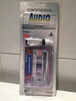 Connexia Audio Accesories Musiclean Total Tape Cassette Headcleaner BRAND NEW