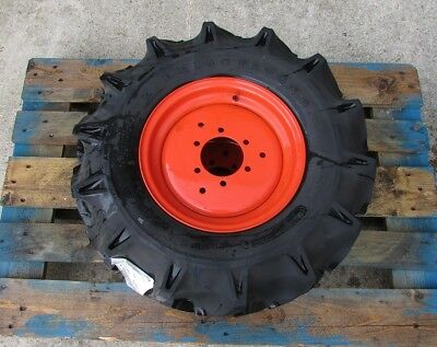 kubota 6.00-12 front agricultural wheels and tyres to fit Kubota B2650