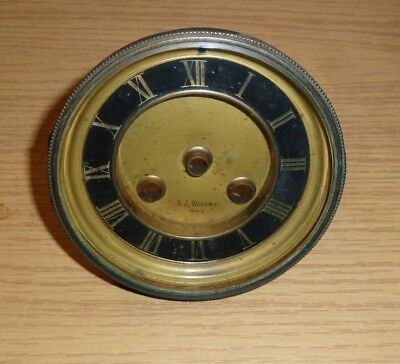 """French clock bezel c1900 bevelled glass & chapter ring - for 4"""" aperture"""