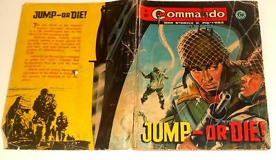 #587 Commando Picture Library Comics ~ JUMP-OR DIE! ~ 1971 - Good Condition