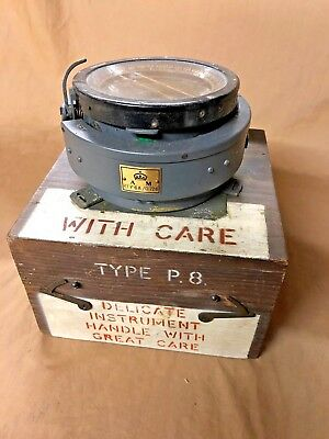 Ww2 Raf P8 Battle Of Britain Spitfire Compass, Original Case 1940 Exc Original.