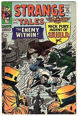 Strange Tales #147 with Nick Fury Agent of SHIELD & Dr. Strange, VF Condition