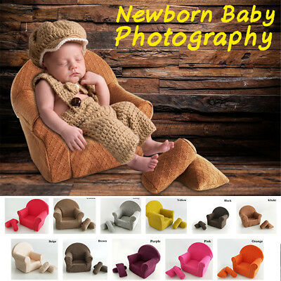 AU Newborn Baby Photo Props Photography Pose Shoot Small Sofa With 2 Cushions