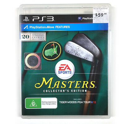 Masters Collectors Edition Tiger Woods PGA Tour 13 PS3 Sony Playstation 3 Aus