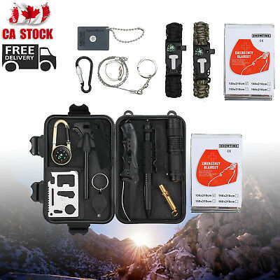 16in1 First Aid Survival Tool Emergency Kit Rescue Gear Outdoor Survival Camping