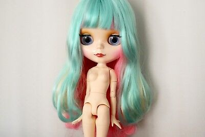 """12"""" Neo Blythe Doll with Outfit - Joint Body White Skin Rainbow Hair"""
