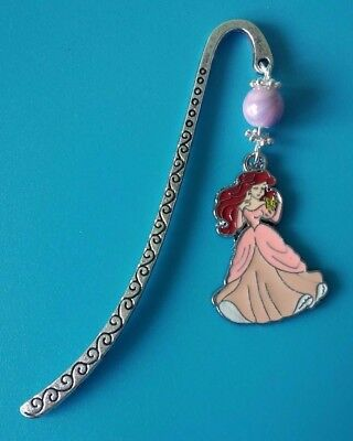 Metal Bookmark With Ariel In Dress Charm New