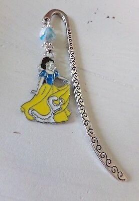 Metal Bookmark With Snow White Charm New