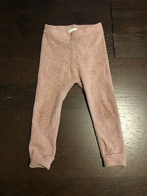 Zara Baby Girl Dusty Pink  Knitted Leggings Size 18-24 Months