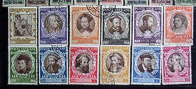 Vatican stamps (1946): full set of 14; used, hinged: 400 yrs of Council of Trent