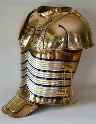 18GA Steel & Copper Coated Medieval Agamemnon cuirass/ Breastplate Knight Jacket