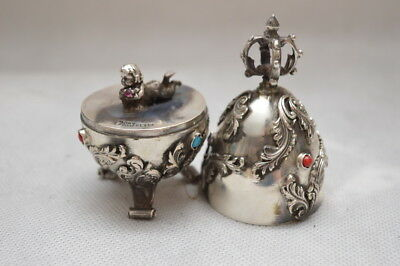 SILVER openwork EGG - OPENED - CHILD KINDER SECESSION - VERY OLD