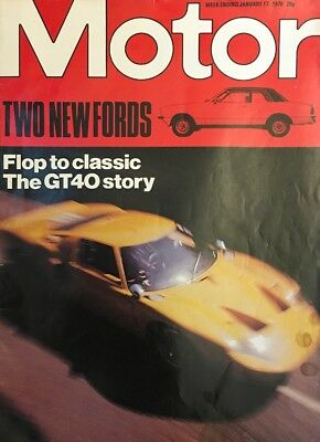 Motor Magazine: Two New Fords, Flop To Classic, The GT40 Story