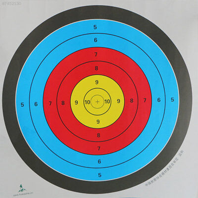 7950 Beginner Practice Full Ring Archery Targets Useful Colorful 60*60CM