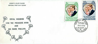 Gilbert & Ellice Islands 1973 Royal Wedding First Day Cover
